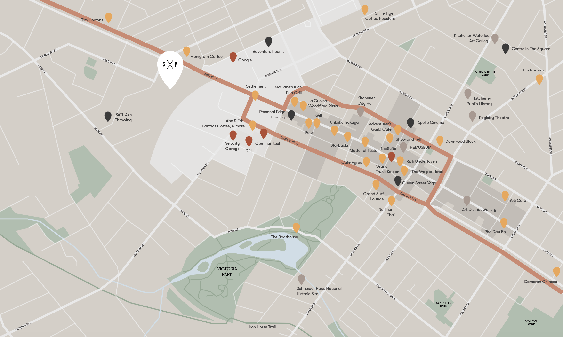 Map showing the amenities around Station Park